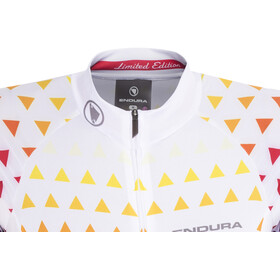 Endura Triangulate - Maillot manga corta Mujer - blanco/Multicolor